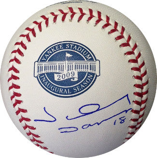 Johnny Damon signed 2009 Inaugural Season Yankee Stadium Logo Rawlings Baseball (New York Yankees) PSM-Powers Sports Memorabilia
