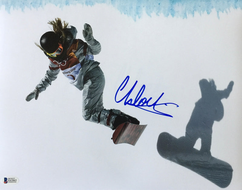 Chloe Kim Signed 11x14 Slope Photo Olympic Gold Medalist BAS PSM-Powers Sports Memorabilia