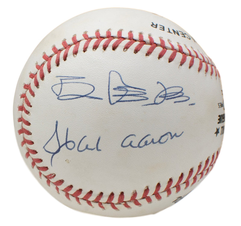 Sadaharu Oh Hank Aaron Signed Official National League Baseball JSA LOA PSM-Powers Sports Memorabilia