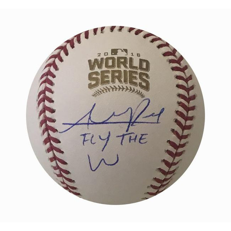 Addison Russell Autographed Cubs 2016 World Series Signed Baseball FLY THE W COA 13