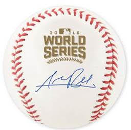 Addison Russell Cubs Signed 2016 World Series Baseball w/ Free Ball Cube JSA PSM-Powers Sports Memorabilia