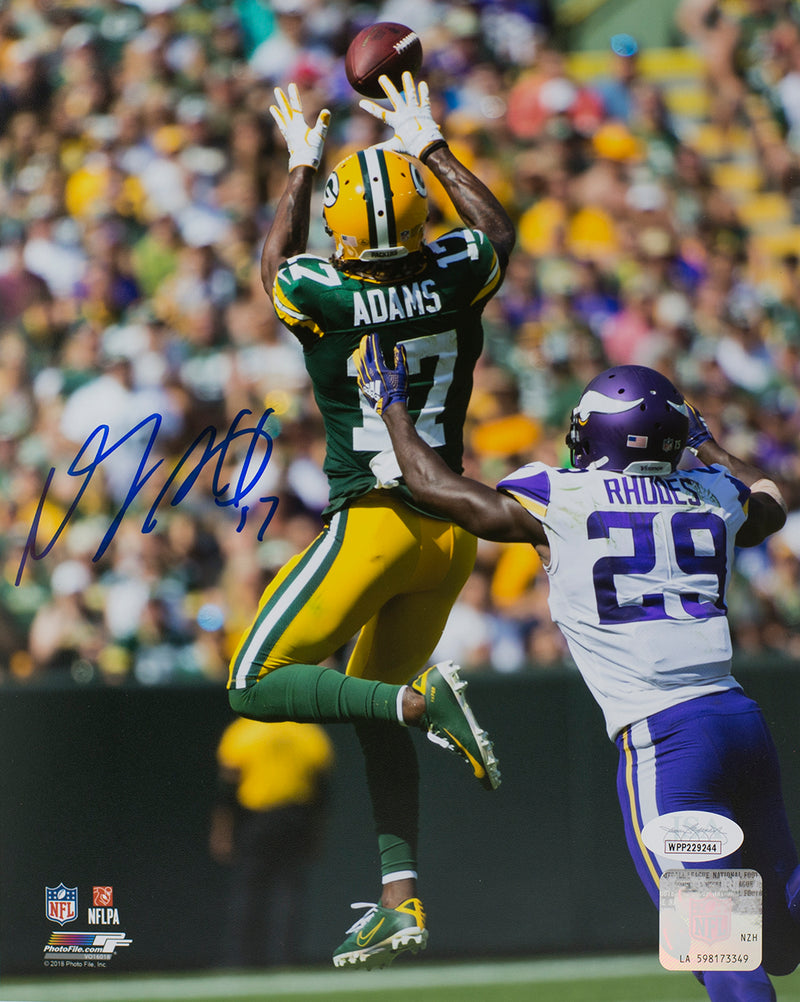 Davante Adams Signed 8x10 Green Bay Packers Action Photo JSA ITP PSM-Powers Sports Memorabilia