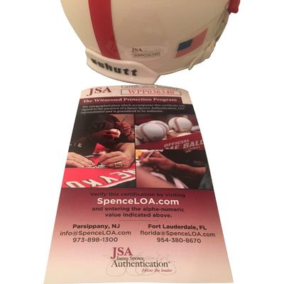 Ahman Green Autographed Nebraska Cornhuskers Signed White Football Mini Helmet CHAMPS JSA COA-Powers Sports Memorabilia