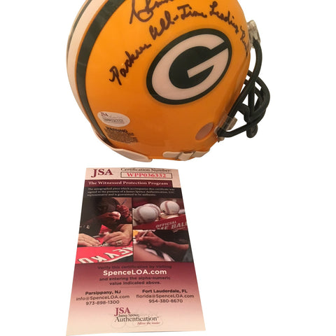 Ahman Green Autographed Green Bay Packers Signed Football Mini Helmet JSA COA 1-Powers Sports Memorabilia