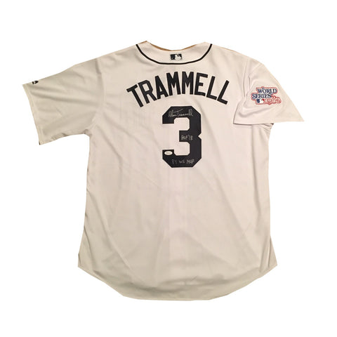 Alan Trammell Autographed Detroit Tigers Hall of Fame HOF 2018 Signed Baseball Jersey 1984 World Series MVP JSA COA-Powers Sports Memorabilia