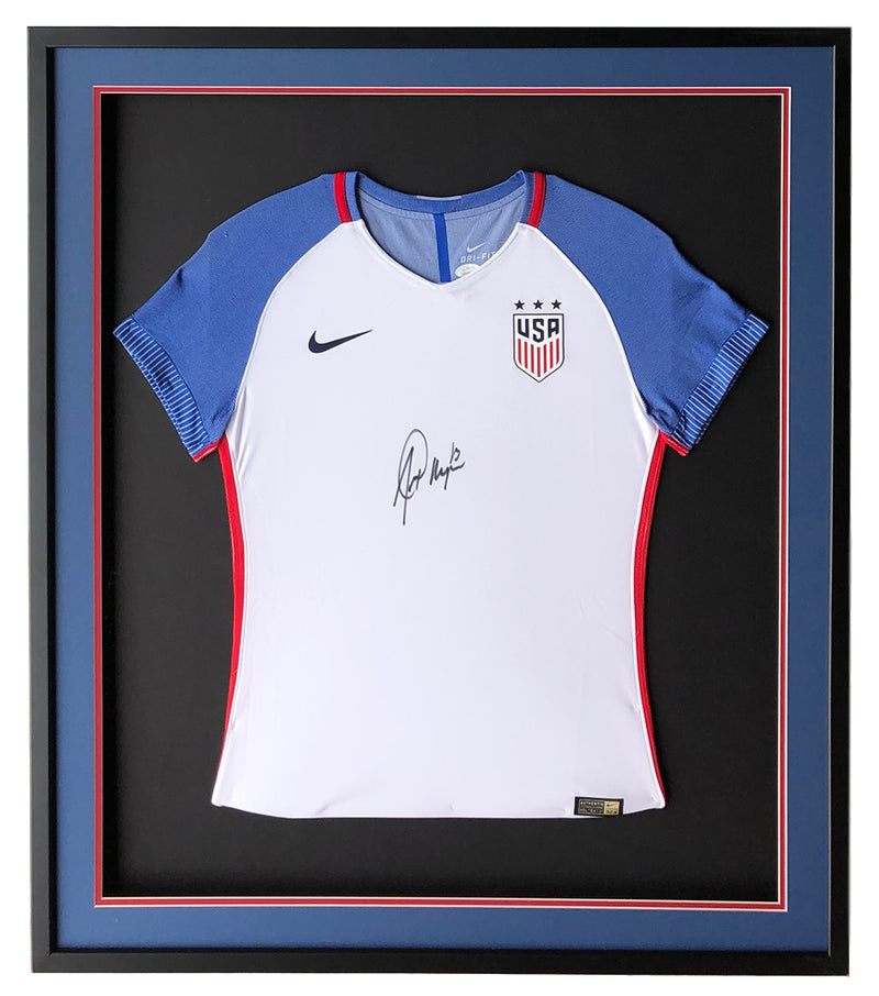 Alex Morgan Signed Framed 32x36 Nike Authentic USA Blue White Soccer Jersey JSA PSM-Powers Sports Memorabilia