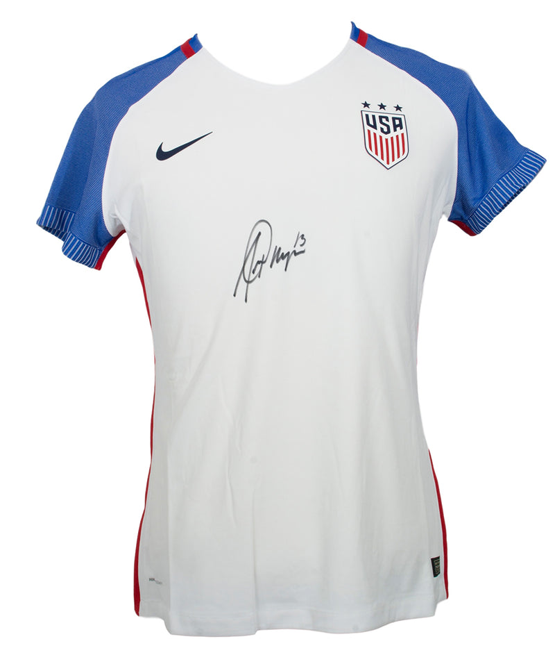 Alex Morgan Signed Nike Authentic USA Blue White Soccer Jersey Large JSA PSM-Powers Sports Memorabilia
