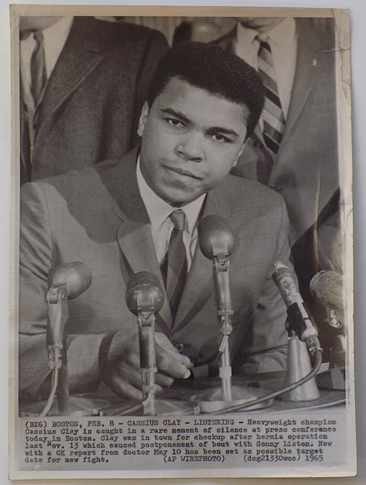 Muhammad Ali 1965 AP Wire Press Conference Photo 2 PSM-Powers Sports Memorabilia