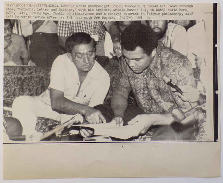 Muhammad Ali 1975 AP Wire Angelo Dundee Photo PSM-Powers Sports Memorabilia