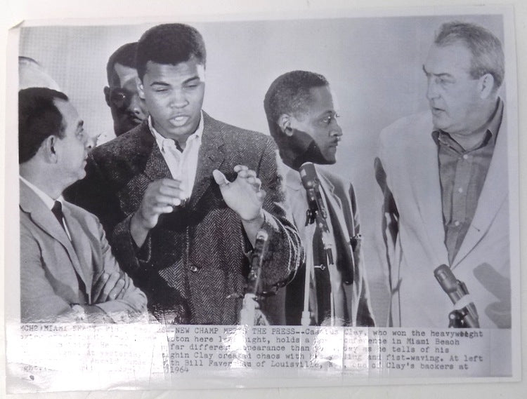 Muhammad Ali 1964 AP Wire Boxing Press Conference Photo PSM-Powers Sports Memorabilia