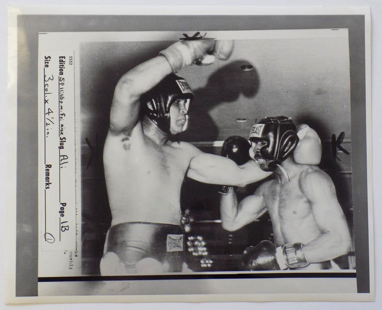 Muhammad Ali 1976 AP Wire Sparring Photo PSM-Powers Sports Memorabilia