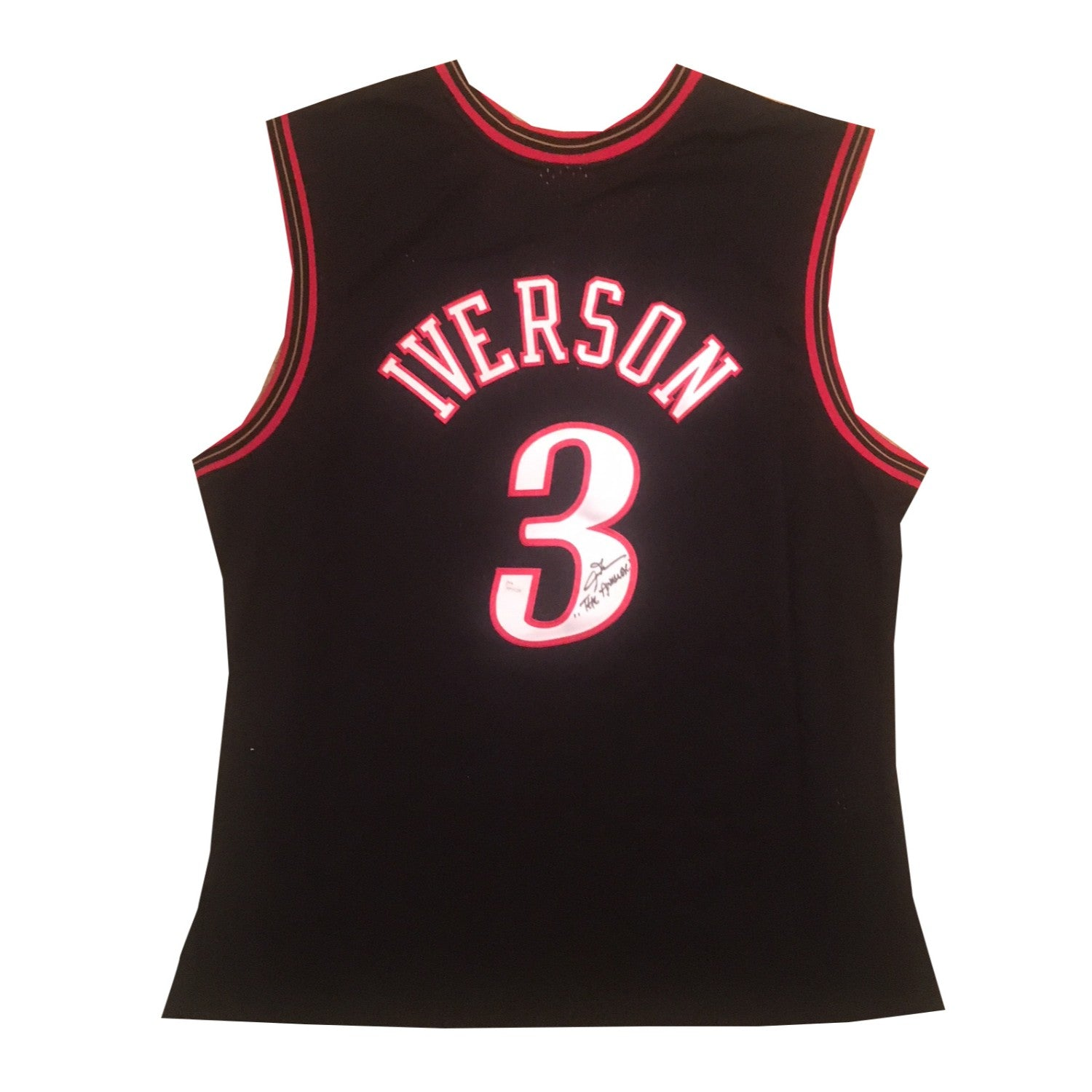 new style fd540 86fad allen iverson signed jersey