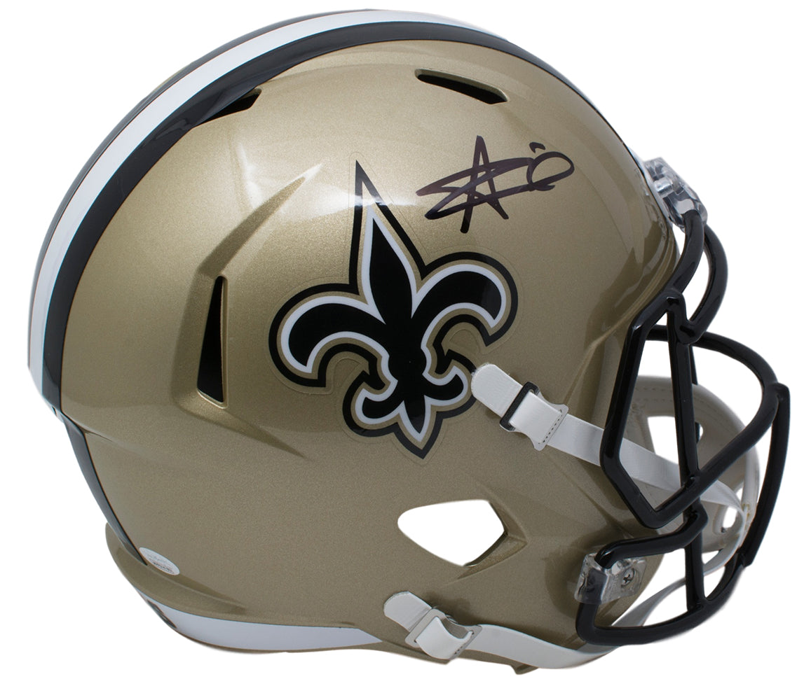 Alvin Kamara Signed New Orleans Saints Full Size Speed Replica Helmet JSA PSM-Powers Sports Memorabilia