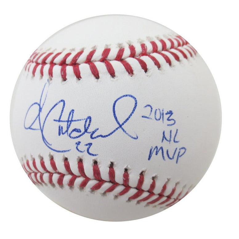 Andrew McCutchen Autographed Baseball Signed 2013 NL MVP MLB Authenticated COA 3