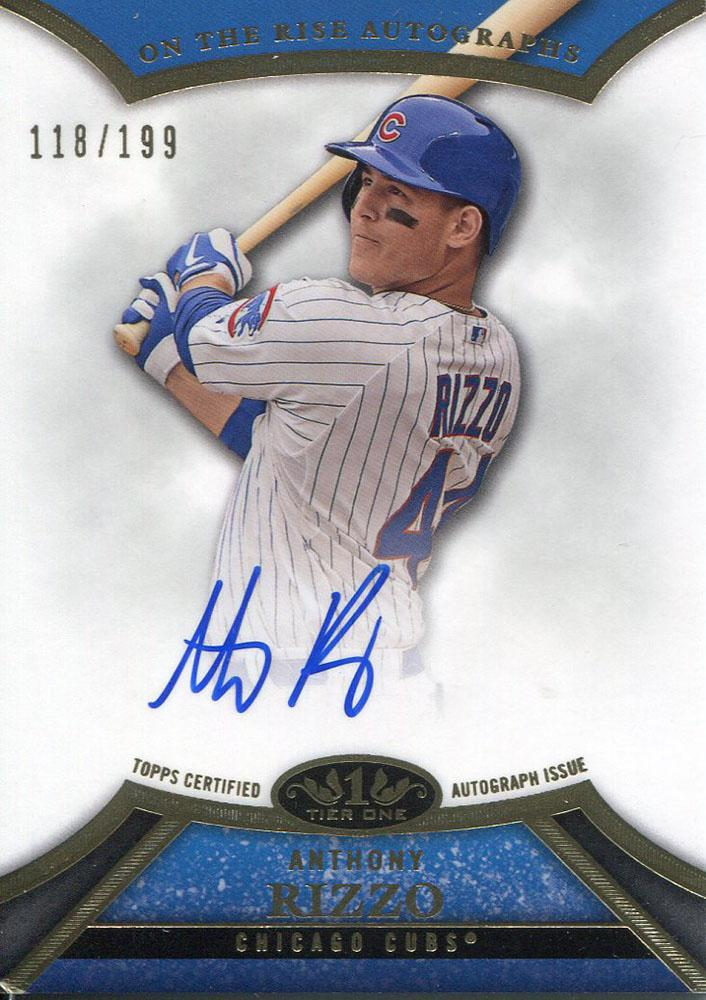 Anthony Rizzo Autographed 2013 Topps Tier One Card PSM-Powers Sports Memorabilia