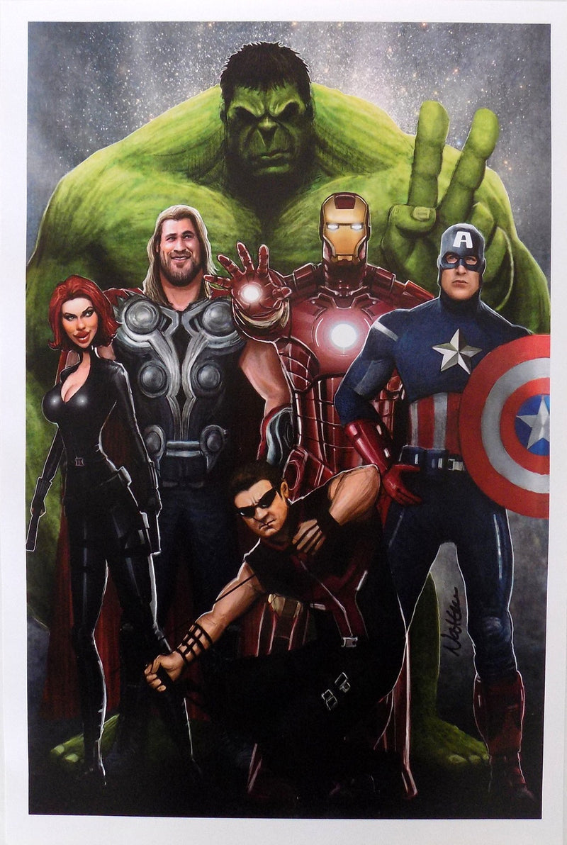 Avengers 12x18 Lithograph PSM-Powers Sports Memorabilia