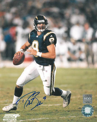 Drew Brees signed San Diego Chargers 8x10 Photo (navy jersey scramble) PSM-Powers Sports Memorabilia