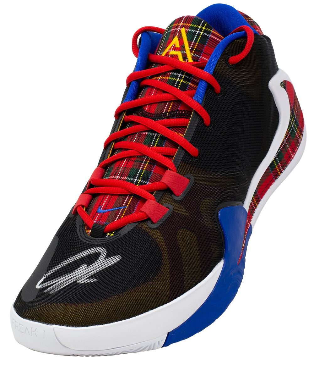 Giannis Greek Freak Antetokounmpo Signed Coming to America Right Zoom Freak1 JSA PSM-Powers Sports Memorabilia