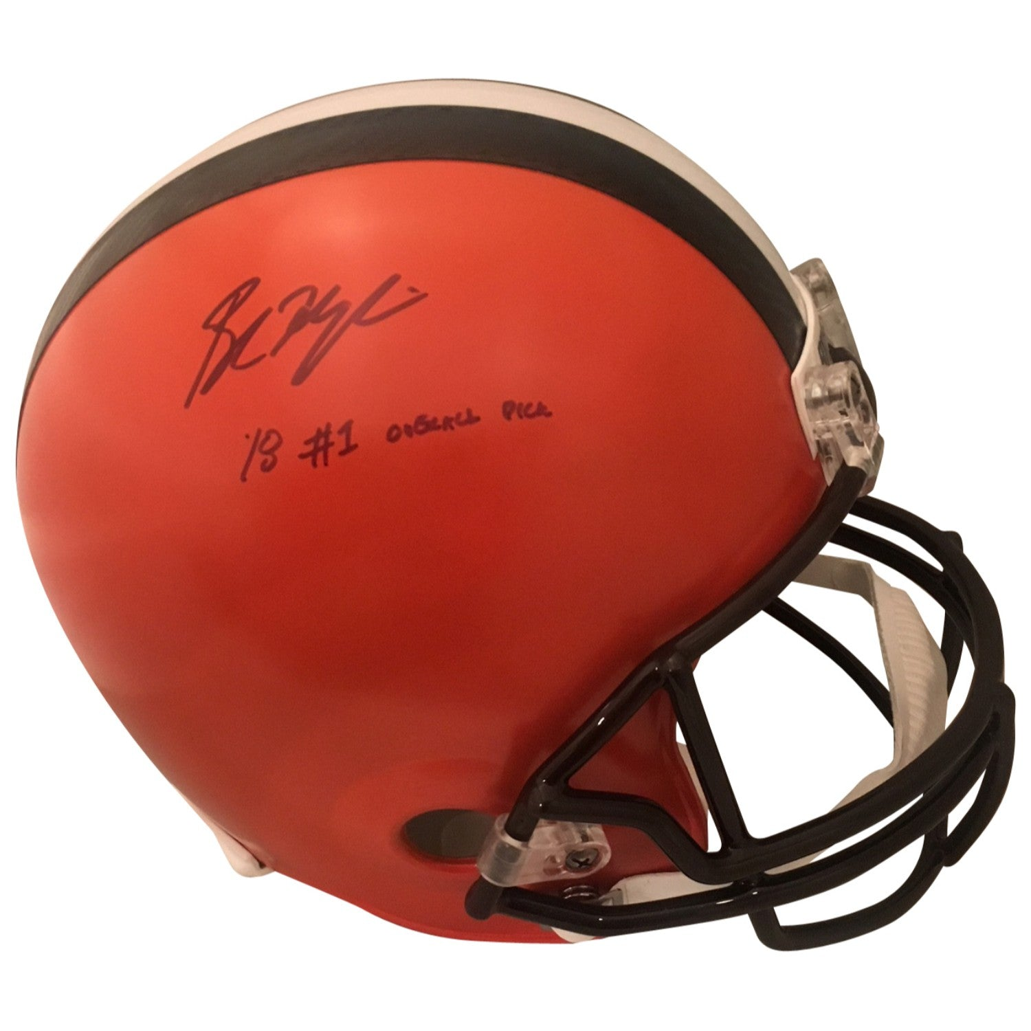Baker Mayfield Cleveland Browns Oklahoma Sooners Autographed NFL Signed  Football PSA DNA COA Powers Collectibles 56eca5660