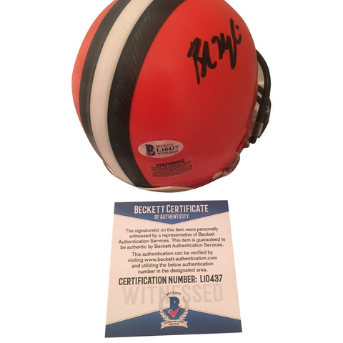 Baker Mayfield Autographed Cleveland Browns Signed Football Mini Helmet Beckett COA-Powers Sports Memorabilia
