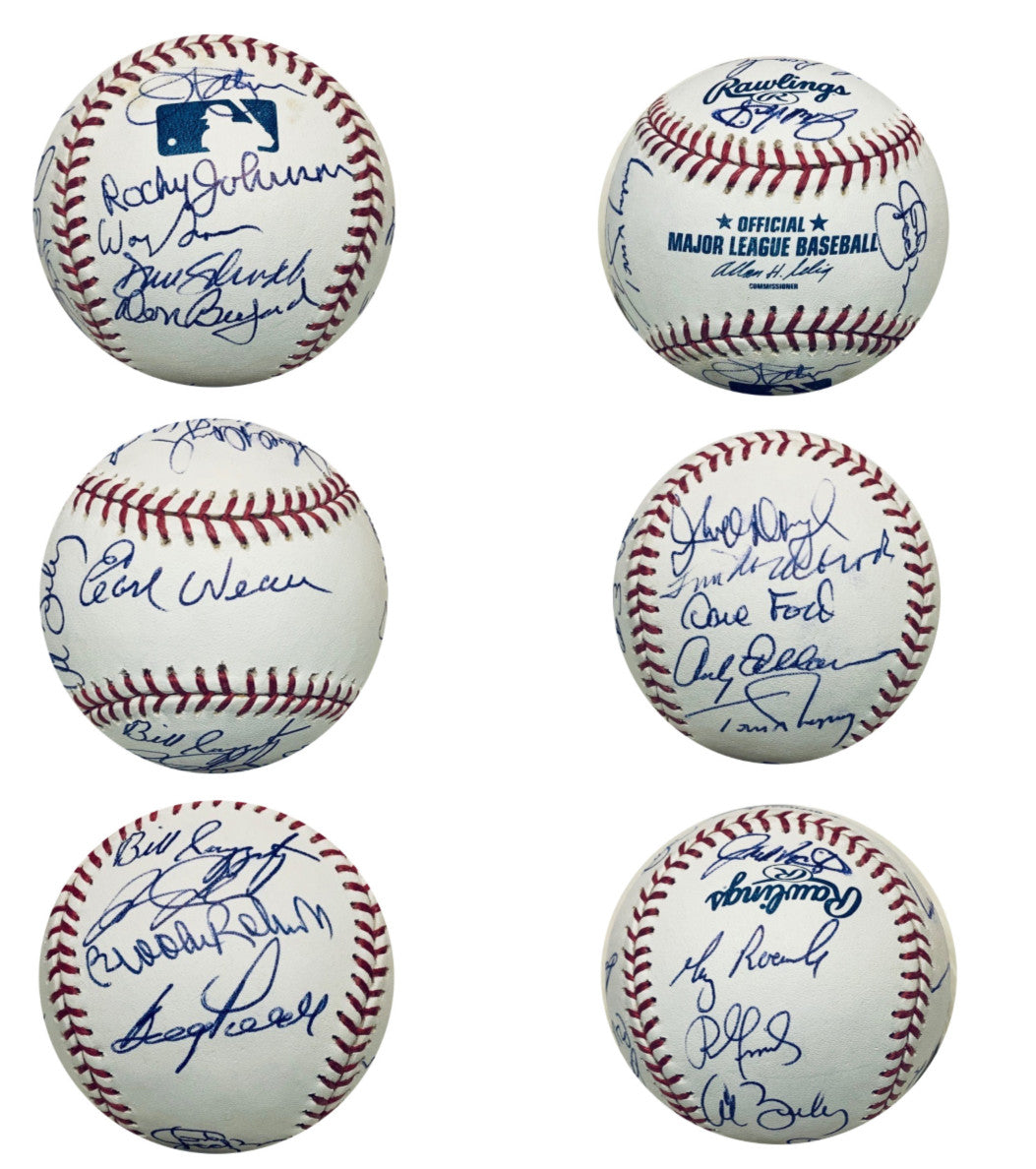 Baltimore Orioles Autographed Hall of Fame HOF Signed Baseball Earl Weaver Brooks Robinson Jim Palmer + 16 Signatures JSA COA With UV Display Case-Powers Sports Memorabilia
