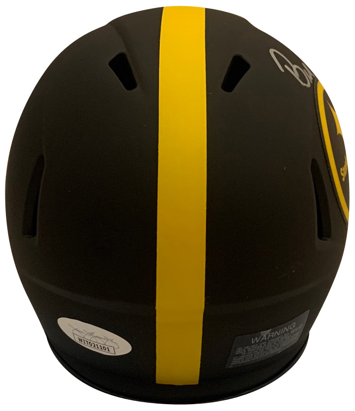 Bill Cowher Autographed Pittsburgh Steelers Signed NFL Eclipse Speed Football Mini Helmet Hall of Fame HOF 2020 JSA COA-Powers Sports Memorabilia
