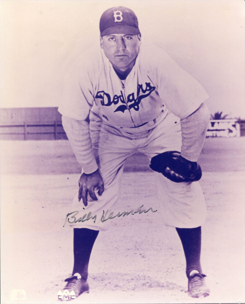 Billy Herman Autographed Brooklyn Dodgers 8x10 Photo PSM-Powers Sports Memorabilia