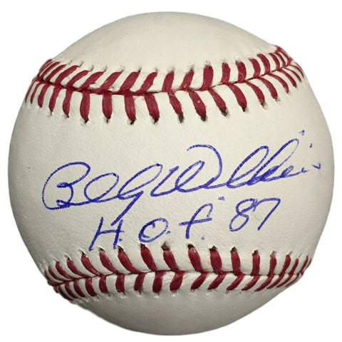 Billy Williams Cubs Signed MLB Baseball HOF 87 w/ Free Ball Cube JSA PSM-Powers Sports Memorabilia