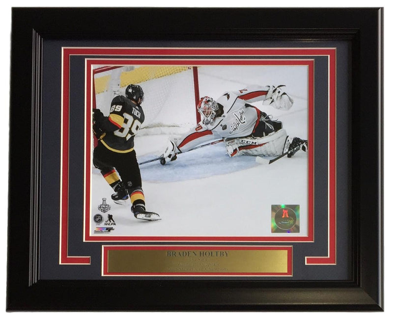 Braden Holtby Framed 8x10 Washington Capitals 2018 Stanley Cup The Save Photo PSM-Powers Sports Memorabilia
