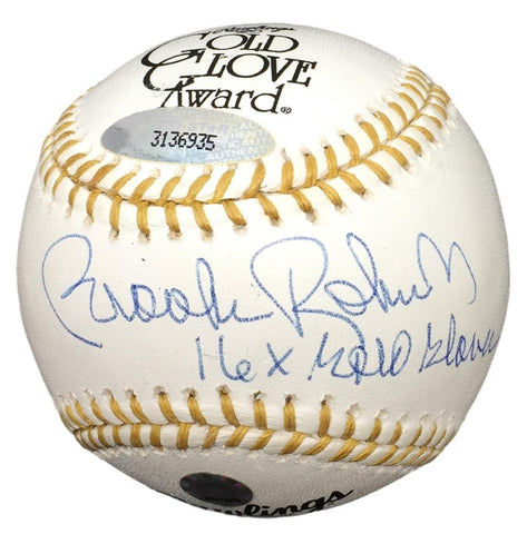 Brooks Robinson Orioles Signed Gold Glove Baseball 16x Gold Glove TriStar+MLB PSM-Powers Sports Memorabilia