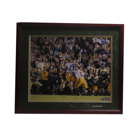 Reggie Bush Matt Leinart Autographed USC Signed Framed 16x20 Football PUSH Photo Schwartz COA Photo