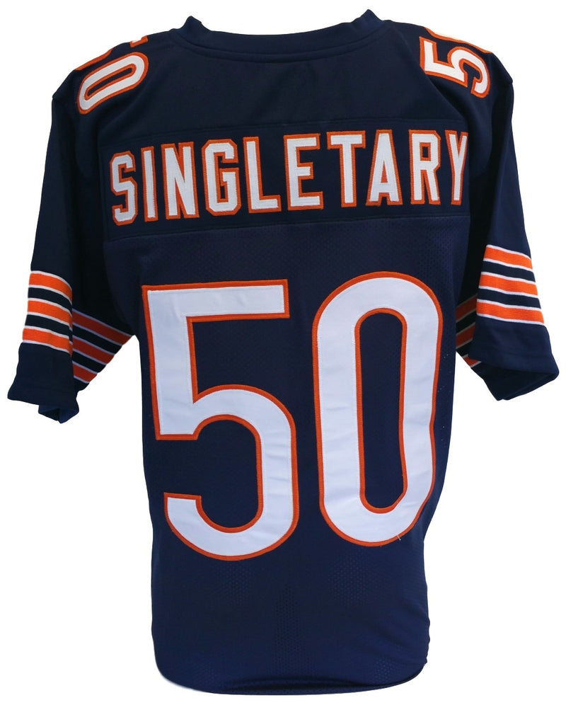 Mike Singletary Unsigned Custom Navy Blue Pro Style Football Jersey Size XL PSM-Powers Sports Memorabilia