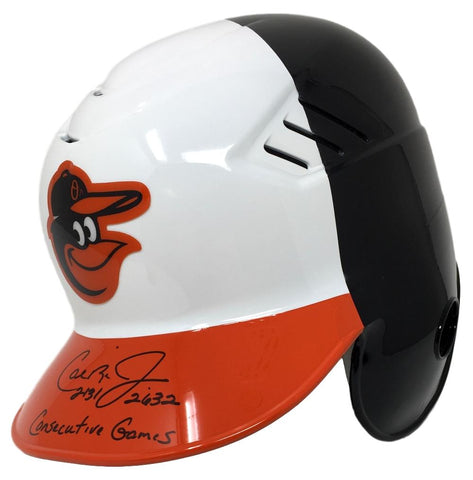 Cal Ripken Jr. Signed Orioles Full Size Batting Helmet Consec Games Insc JSA PSM-Powers Sports Memorabilia