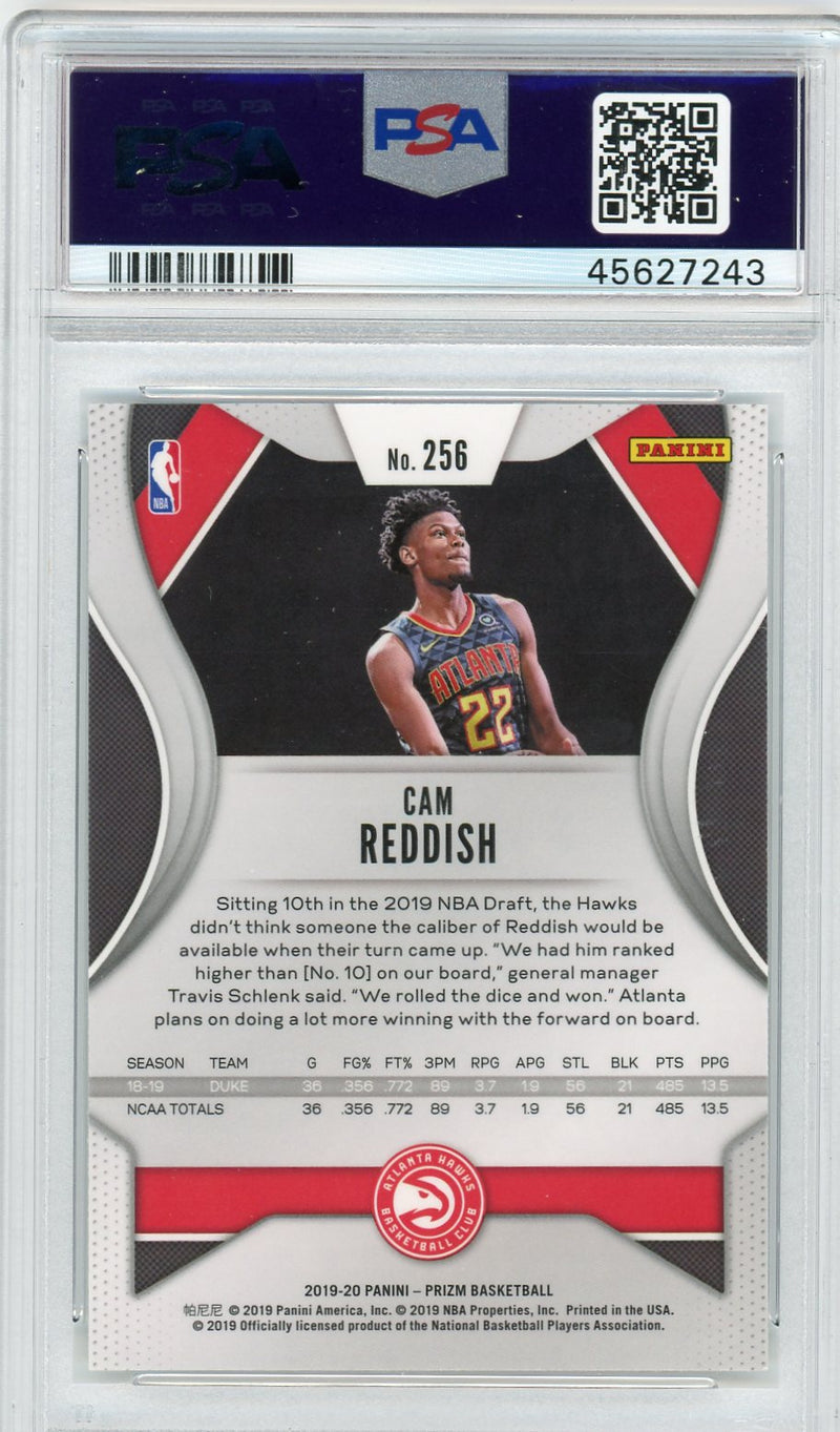 Cam Reddish Atlanta Hawks 2019-20 Panini Prizm Rookie Card RC #256 Graded PSA 9 MINT-Powers Sports Memorabilia