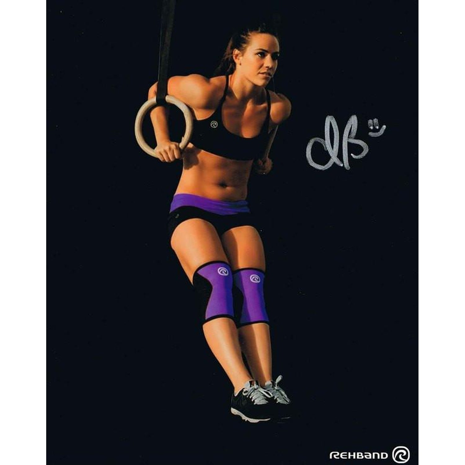 Camille Leblanc-Bazinet Autographed Muscle Up Signed 8x10 Photo Photo-Powers Sports Memorabilia