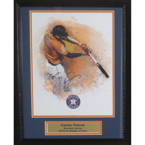 Carlos Correa Autographed Houston Astros Framed Signed 11x14 Baseball Photo 1 Photo
