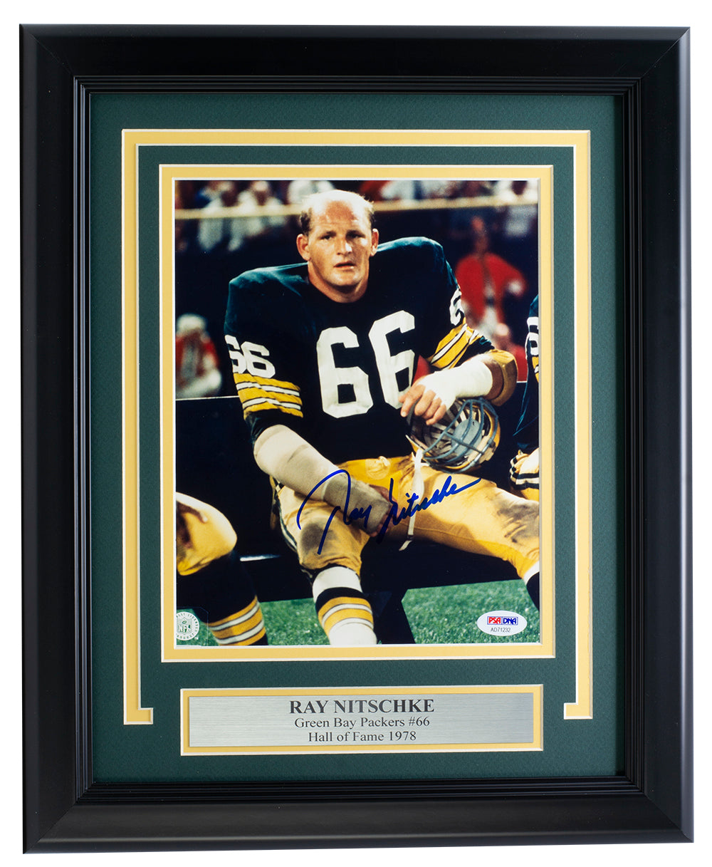 Ray Nitschke Green Bay Packers Signed Framed 8x10 Photo PSA/DNA AD71232 PSM-Powers Sports Memorabilia