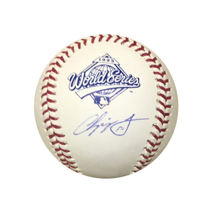 Chipper Jones Atlanta Braves Autographed 1995 World Series Signed Baseball JSA COA With UV Display Case-Powers Sports Memorabilia