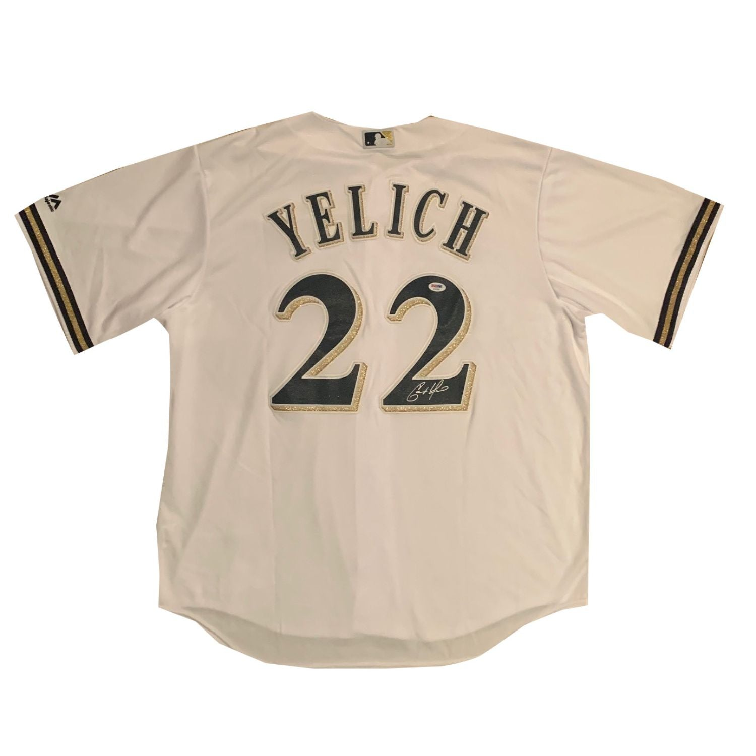 Christian Yelich Autographed Milwaukee Brewers Signed Baseball Jersey PSA DNA COA-Powers Sports Memorabilia