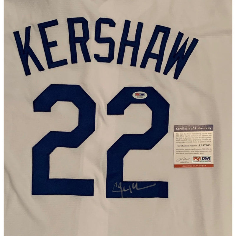 Clayton Kershaw Autographed Los Angeles Dodgers Signed Baseball Jersey PSA DNA COA-Powers Sports Memorabilia