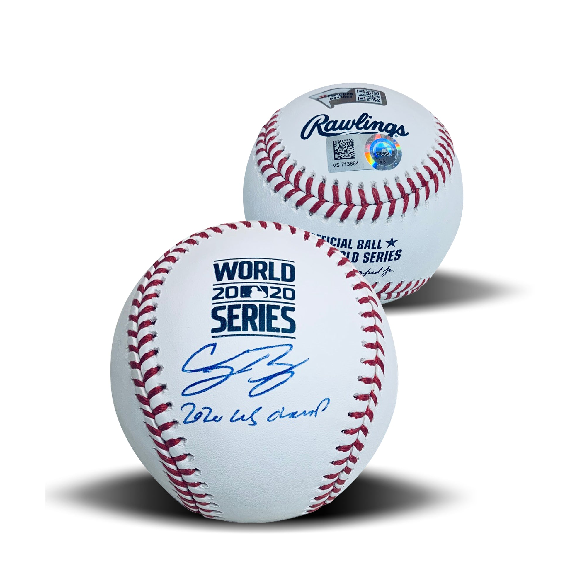 Cody Bellinger Los Angeles Dodgers Autographed 2020 World Series CHAMPS Signed Baseball Fanatics Authentic COA With UV Display Case-Powers Sports Memorabilia
