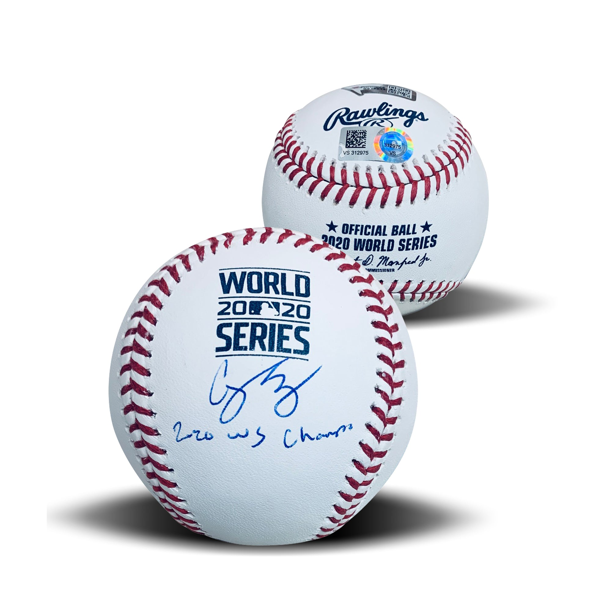 Corey Seager Los Angeles Dodgers Autographed 2020 World Series CHAMPS Signed Baseball Fanatics Authentic COA With UV Display Case-Powers Sports Memorabilia
