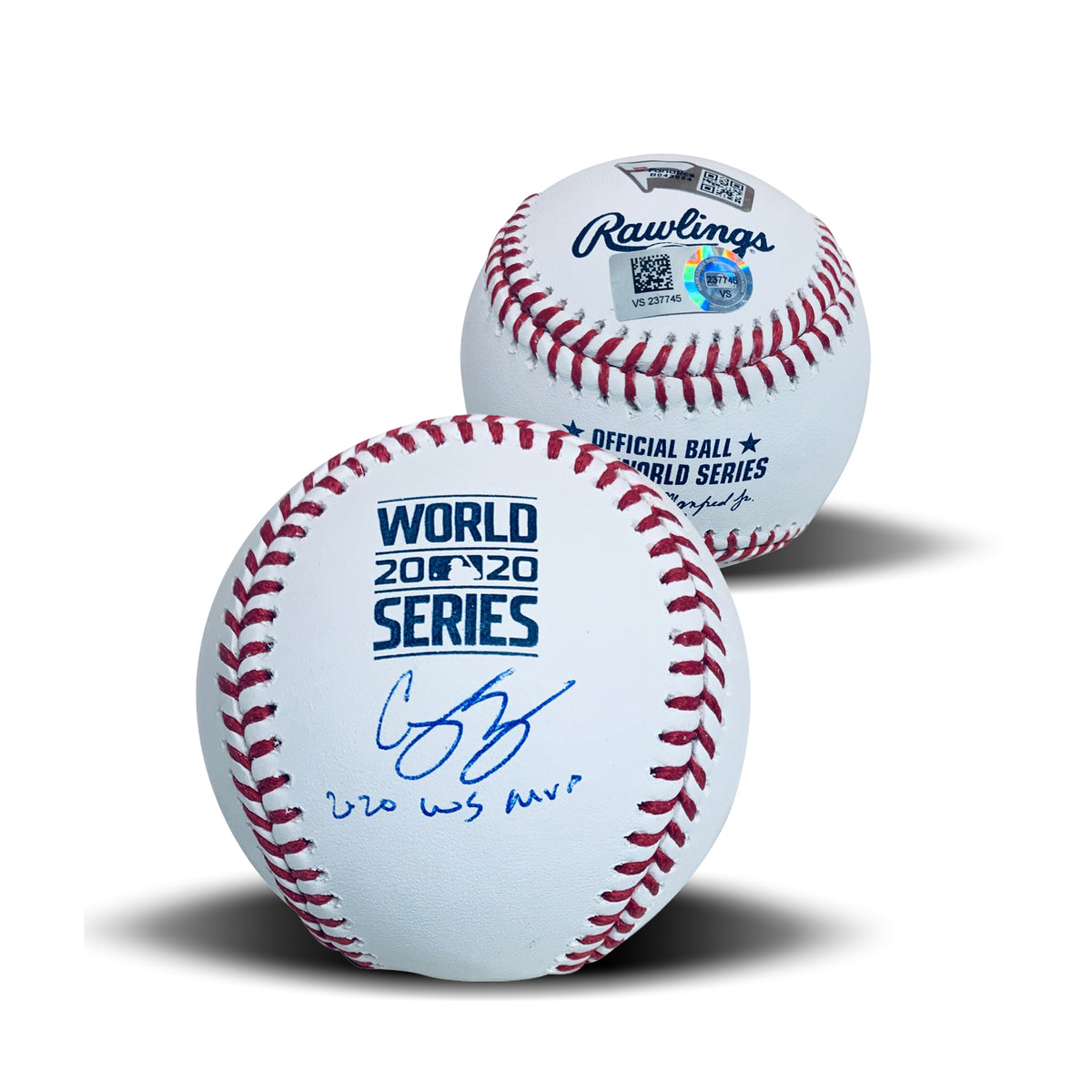 Corey Seager Los Angeles Dodgers Autographed 2020 World Series MVP Signed Baseball Fanatics Authentic COA With UV Display Case-Powers Sports Memorabilia