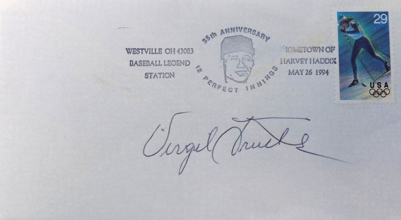 Virgil Trucks Pittsburgh Pirates Signed First Day Cover PSM-Powers Sports Memorabilia