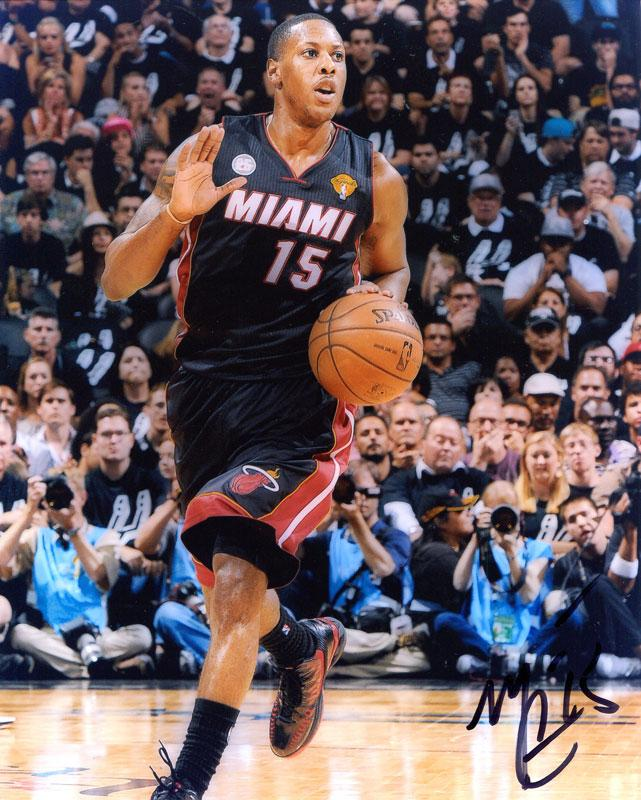Mario Chalmers Autographed 8x10 Photo PSM-Powers Sports Memorabilia