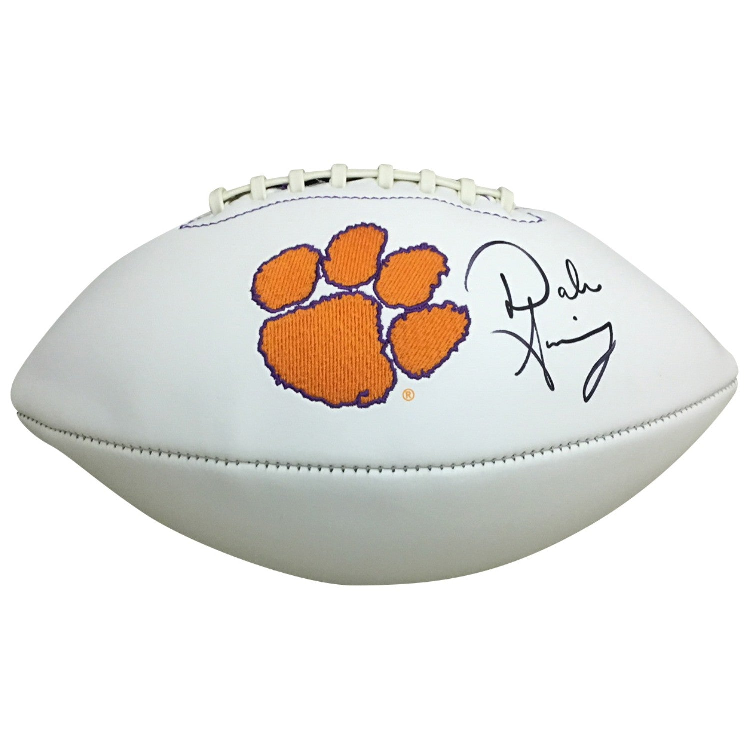 Dabo Swinney Autographed Clemson Tigers Signed Logo Football PSA DNA COA-Powers Sports Memorabilia