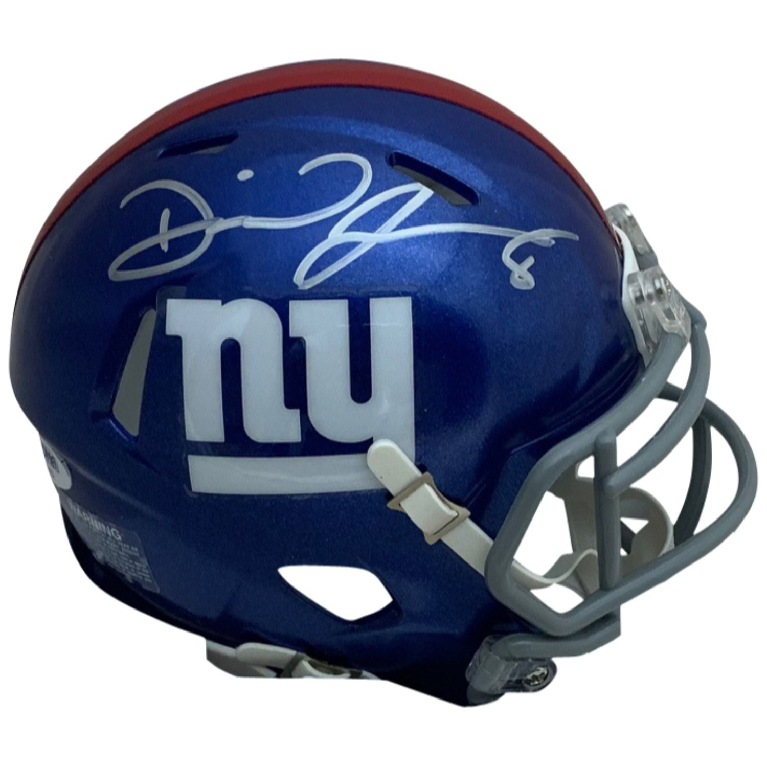 Daniel Jones Autographed New York Giants Signed NFL Football Speed Mini Helmet PSA DNA COA-Powers Sports Memorabilia