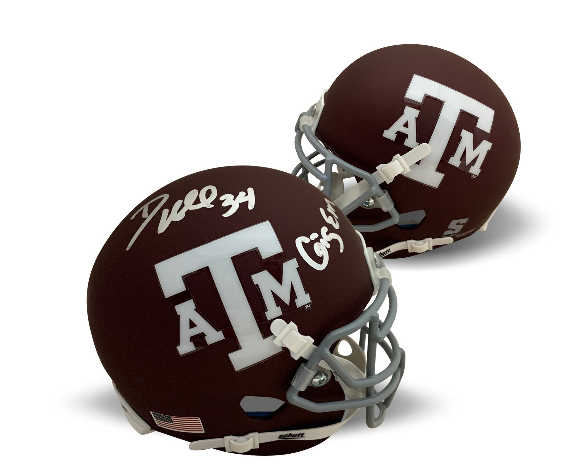 Dante Hall Autographed Texas A&M Aggies Signed Football Mini Helmet GIG EM PSA DNA COA-Powers Sports Memorabilia
