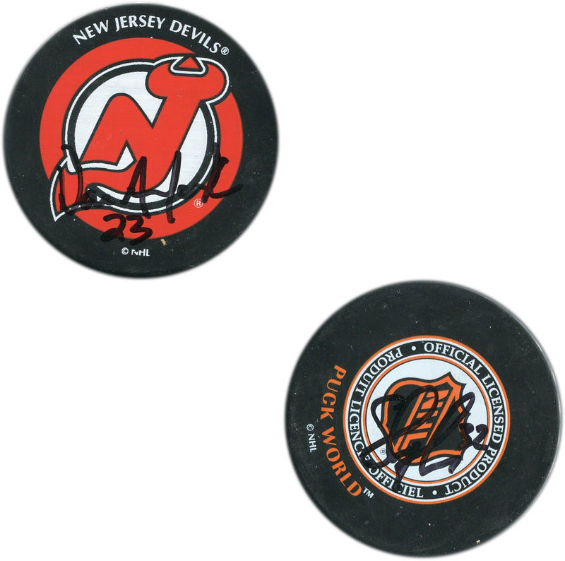 Dave Andreychuk & Steve Thomas Autographed New Jersey Devils NHL Puck PSM-Powers Sports Memorabilia