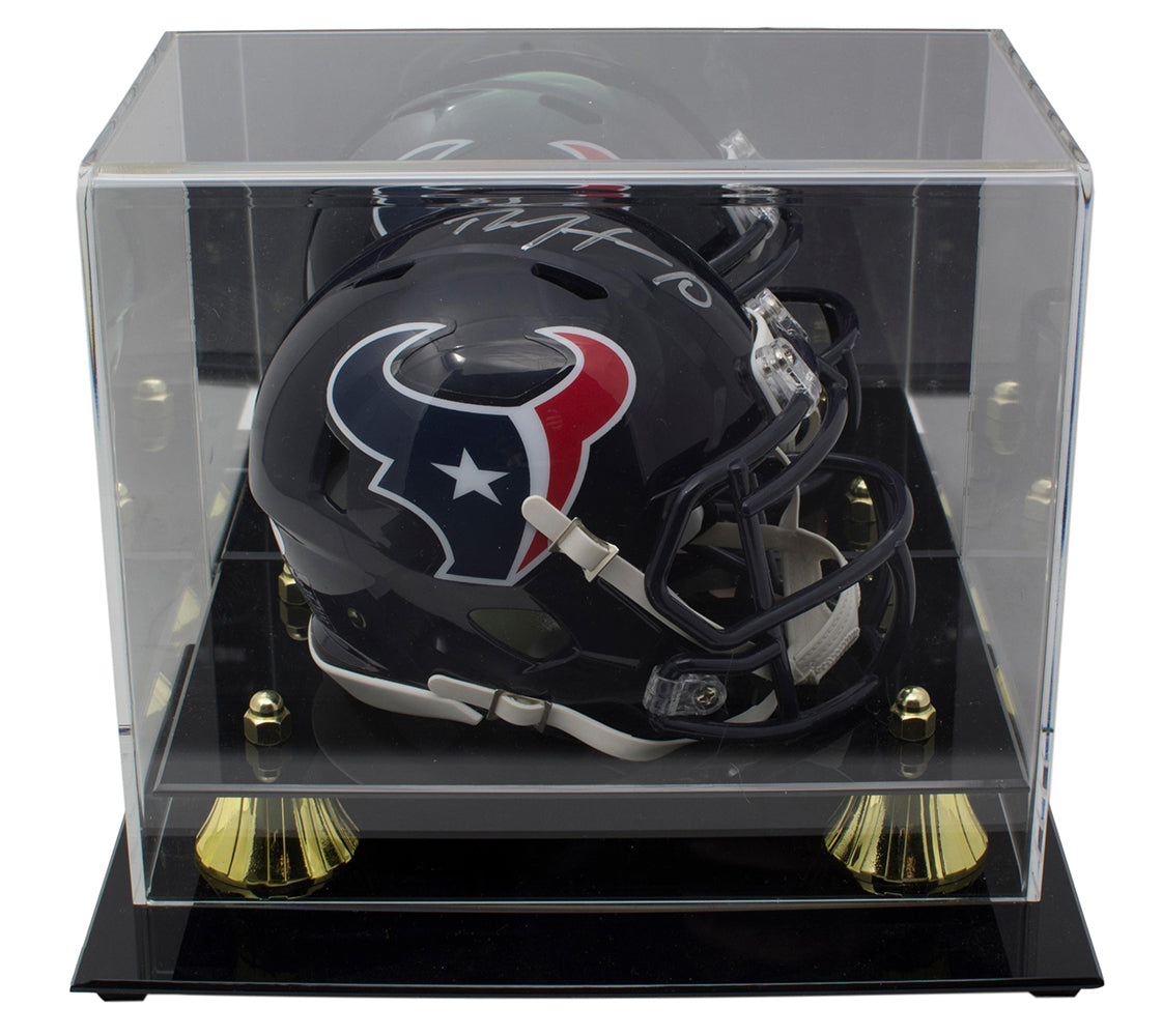 DeAndre Hopkins Signed Houston Texans Mini Speed Helmet w/ Acrylic Case JSA PSM-Powers Sports Memorabilia